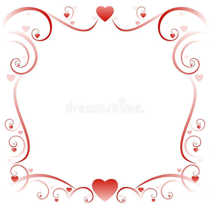 01 swirly rabatowa miłość royalty ilustracja