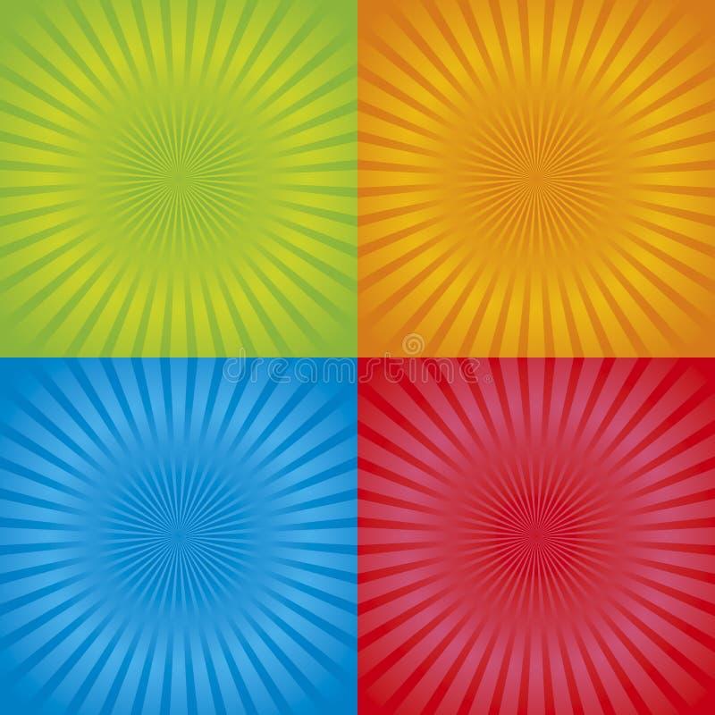 01 tła radial retro ilustracji