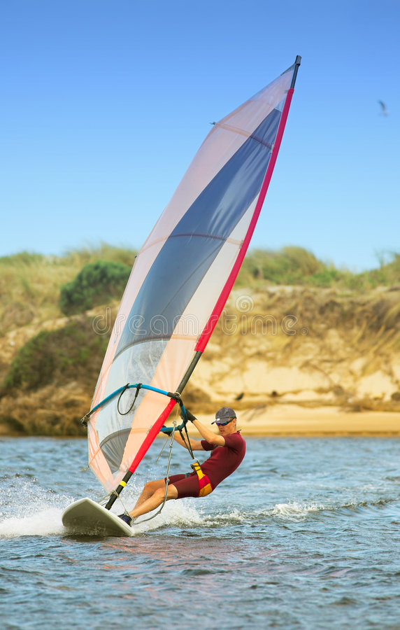 01 windsurfer fotografia stock