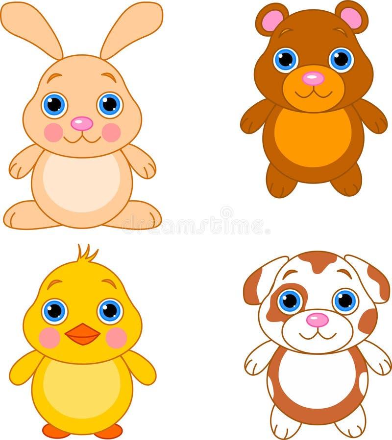 Download 01 zwierzęcia śliczny set ilustracji. Ilustracja złożonej z potomstwa - 13335887