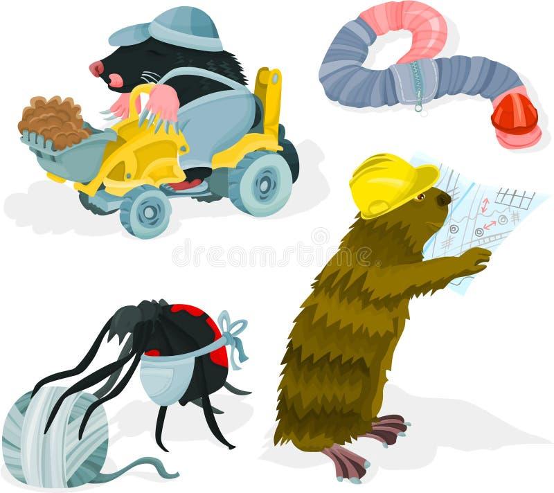 01 zwierzęcy budowniczy ilustracji