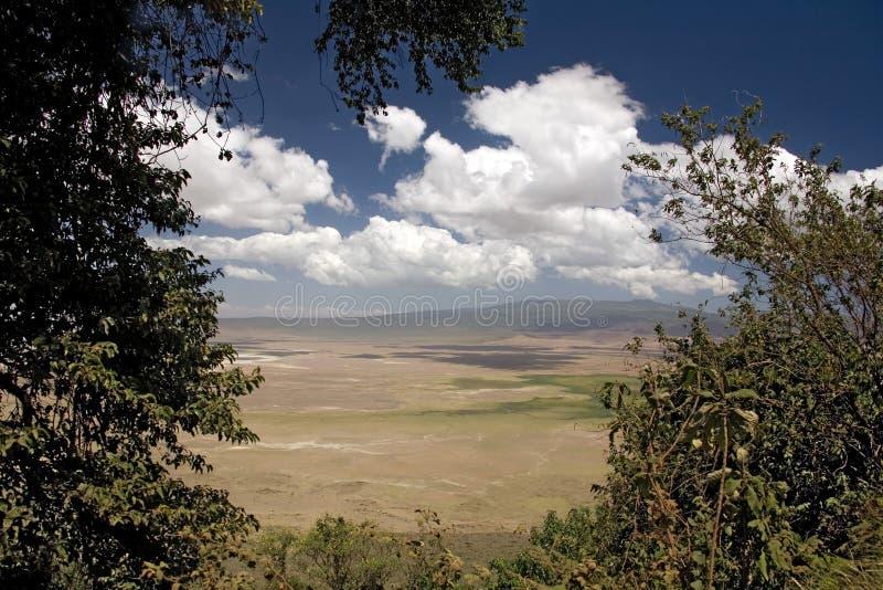 012非洲横向ngorongoro 库存照片