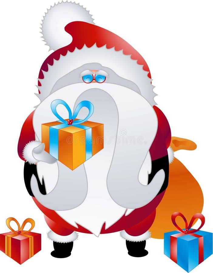015个字符收集设计圣诞老人 库存例证