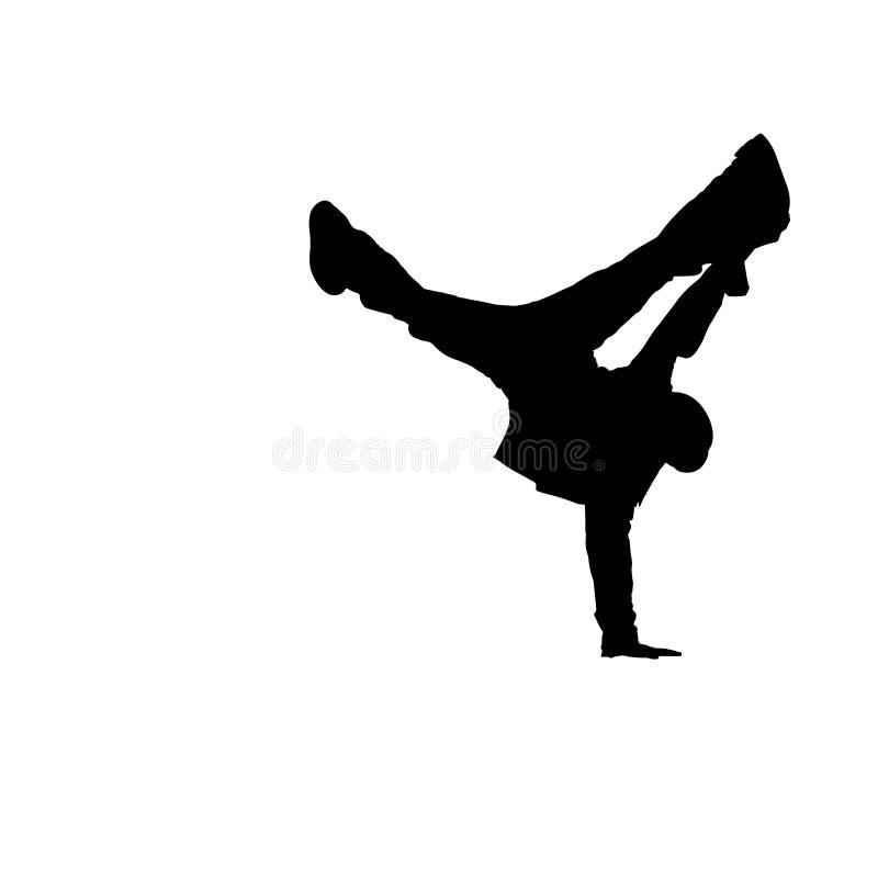 02个中断舞蹈演员剪影 向量例证