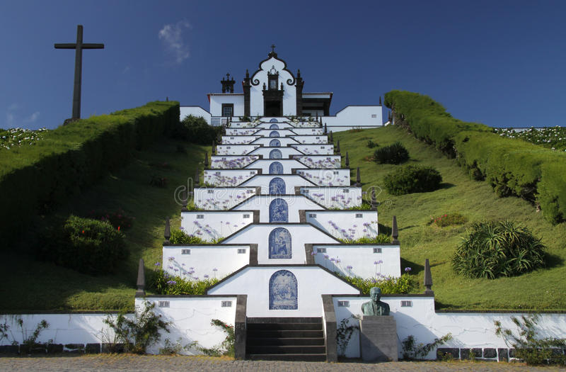 02个亚速尔群岛教会海岛一点 免版税图库摄影