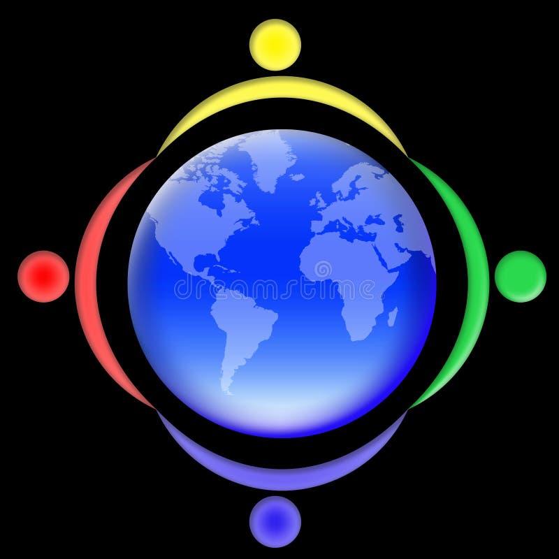 02个人s世界 向量例证