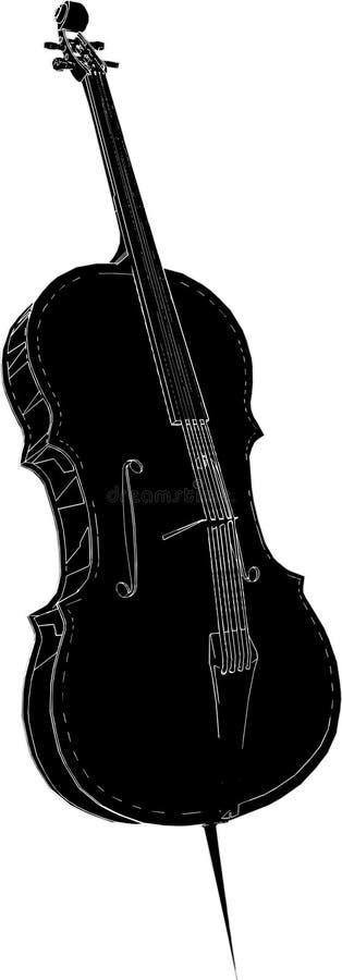 02个向量大提琴 向量例证