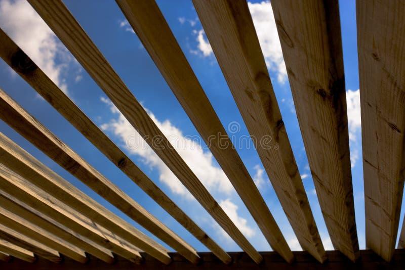 02个屋顶木头 库存照片