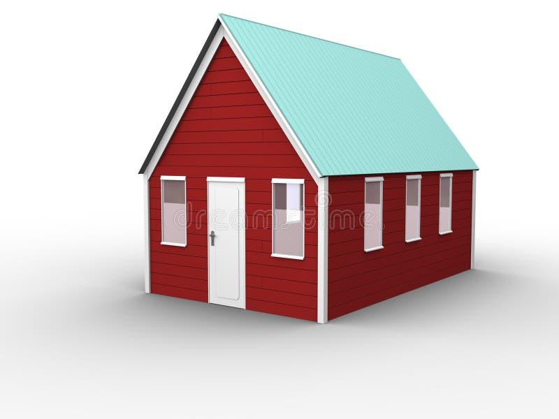 02个房子红色 皇族释放例证