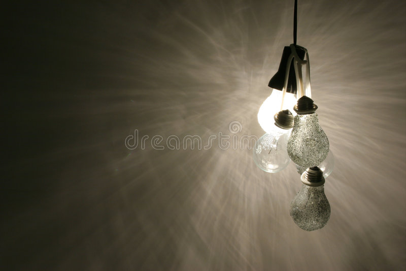 02个电灯泡光 库存图片