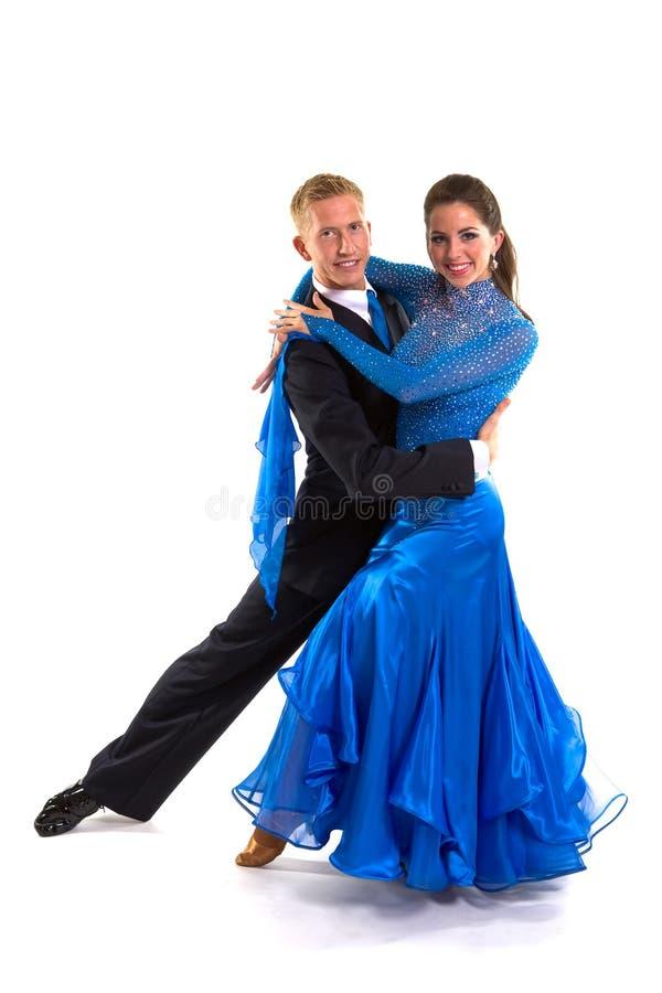 02个舞厅蓝色舞蹈演员 图库摄影
