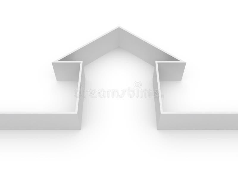 02个颜色房子 免版税库存照片