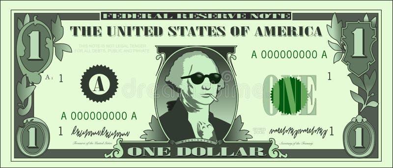 02冷静美元乔治 向量例证