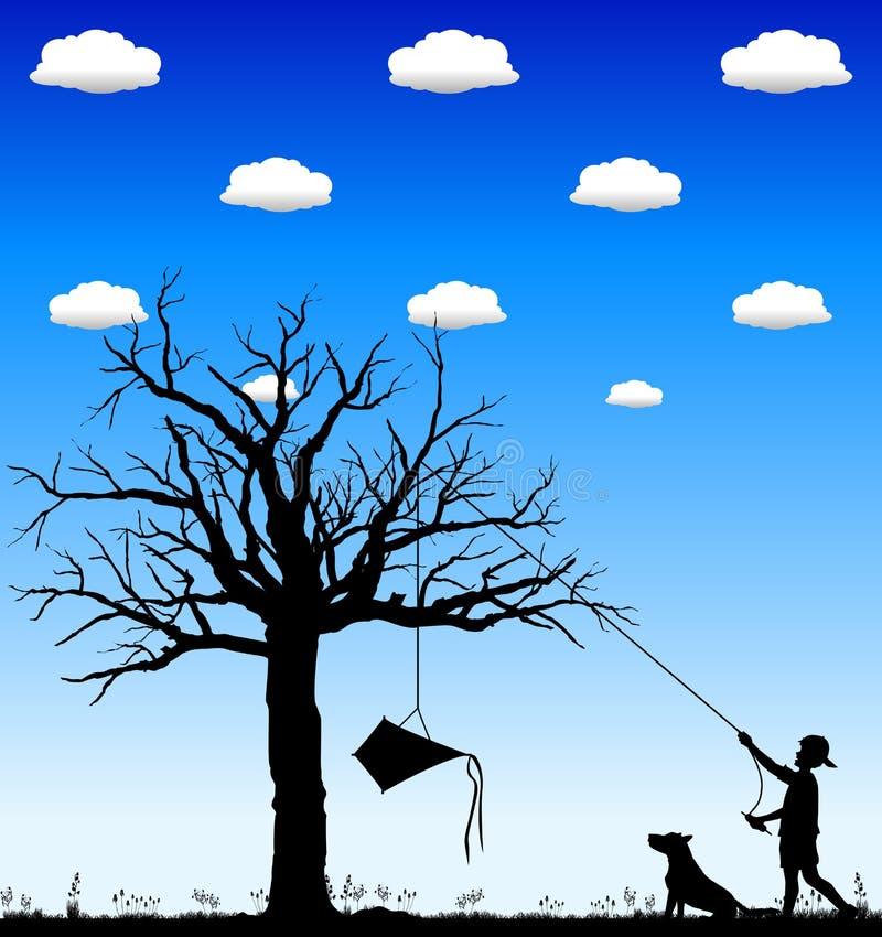 02只风筝结构树 库存例证