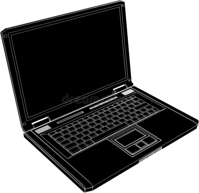 02台计算机膝上型计算机向量 向量例证
