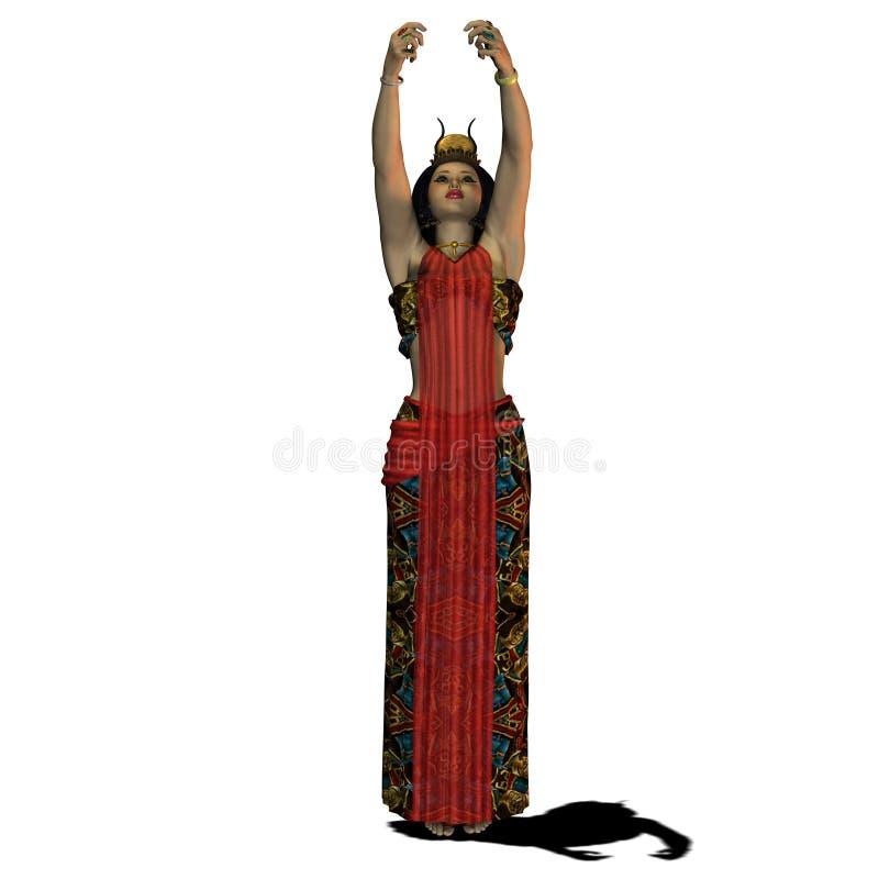 02埃及人妇女 向量例证