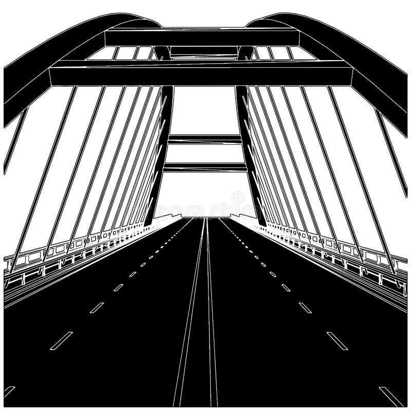 02座桥梁路向量 向量例证
