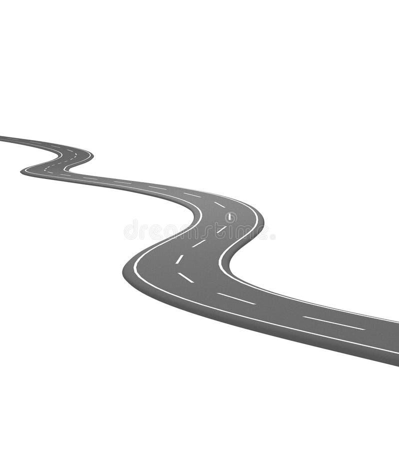 02沥青曲线路 向量例证