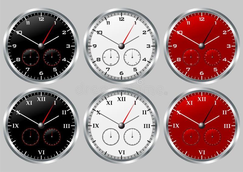 02 ρολόγια διανυσματική απεικόνιση