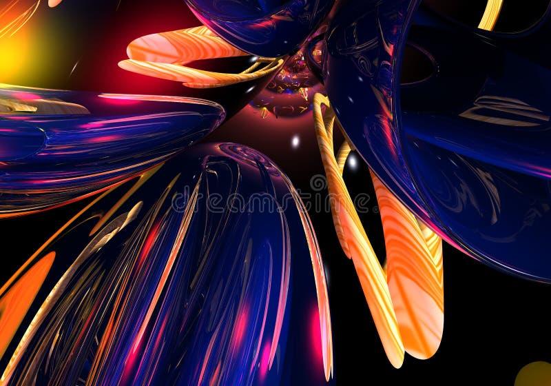 02 абстрактных цвета иллюстрация штока