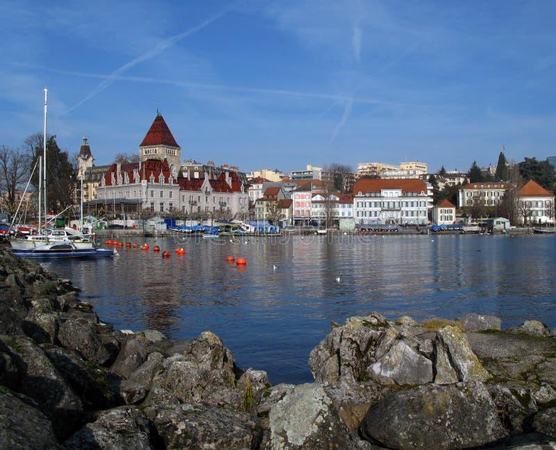 02 замок d lausanne ouchy Швейцария стоковые фотографии rf