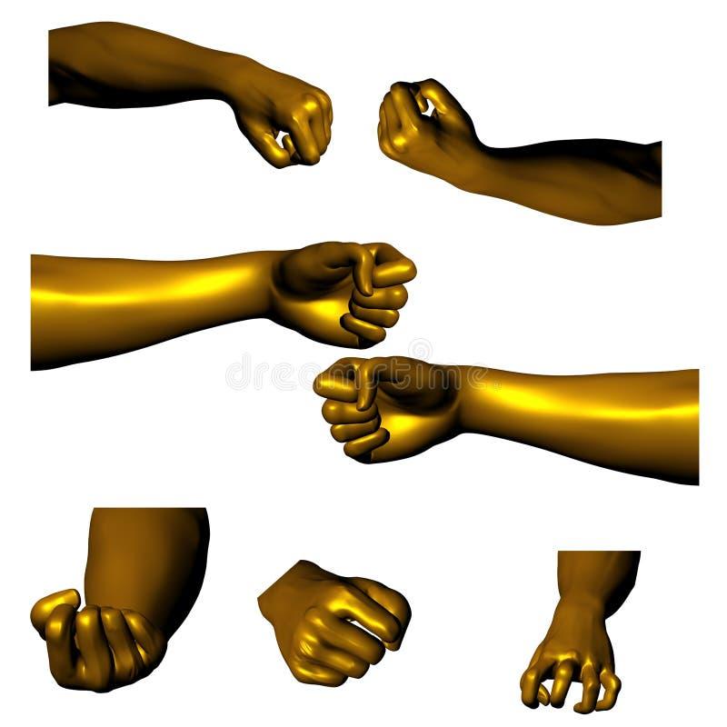 02 золотистых руки бесплатная иллюстрация