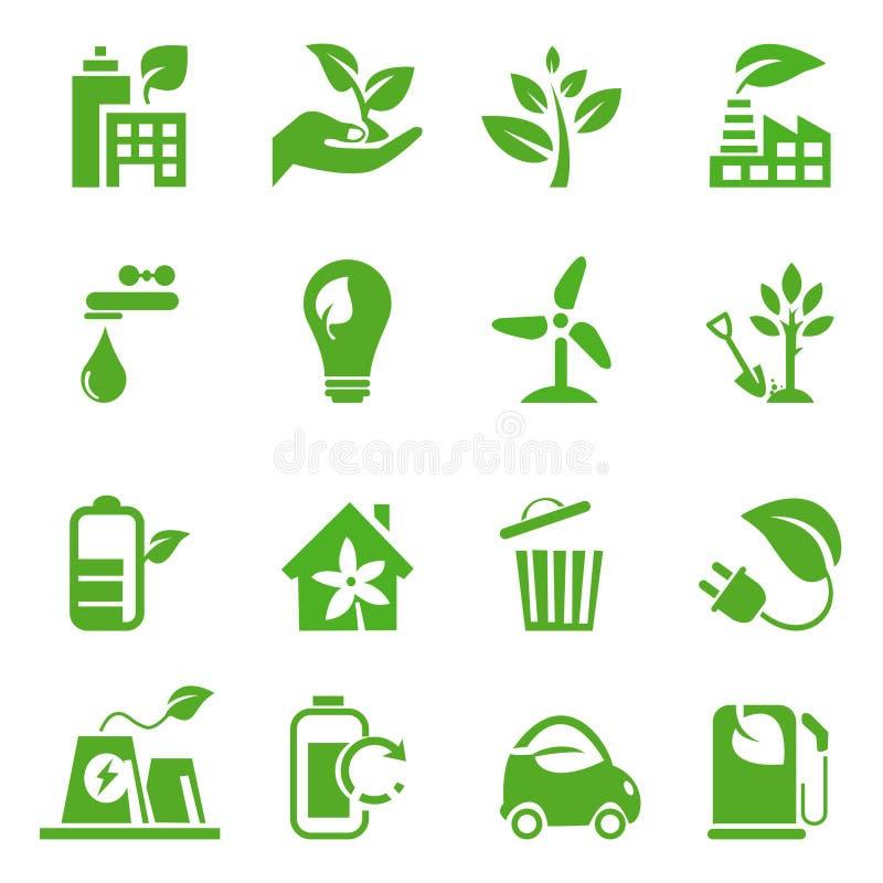 02 идут зеленые установленные иконы бесплатная иллюстрация