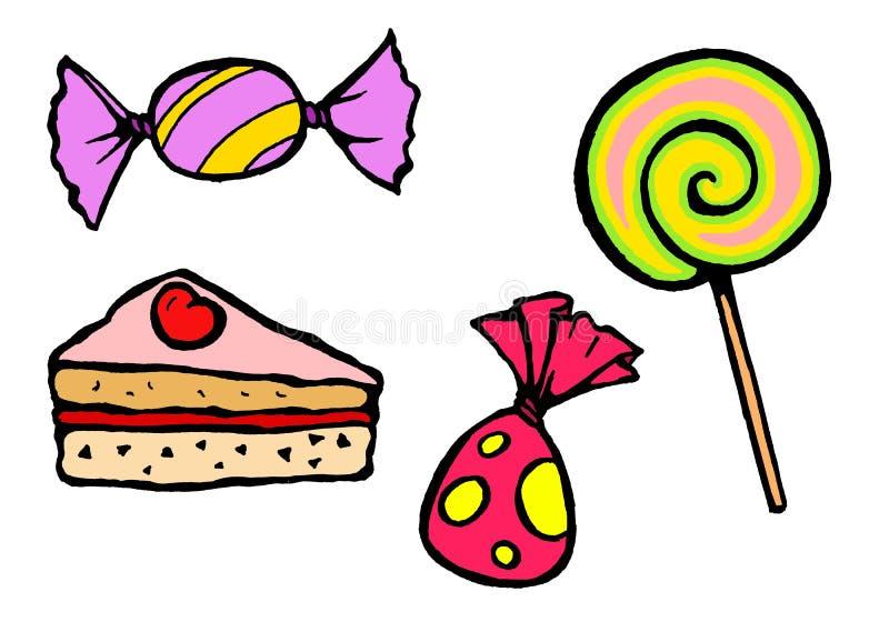 02 конфеты тортов иллюстрация штока