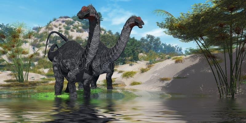 02 apatasaurus ilustracja wektor