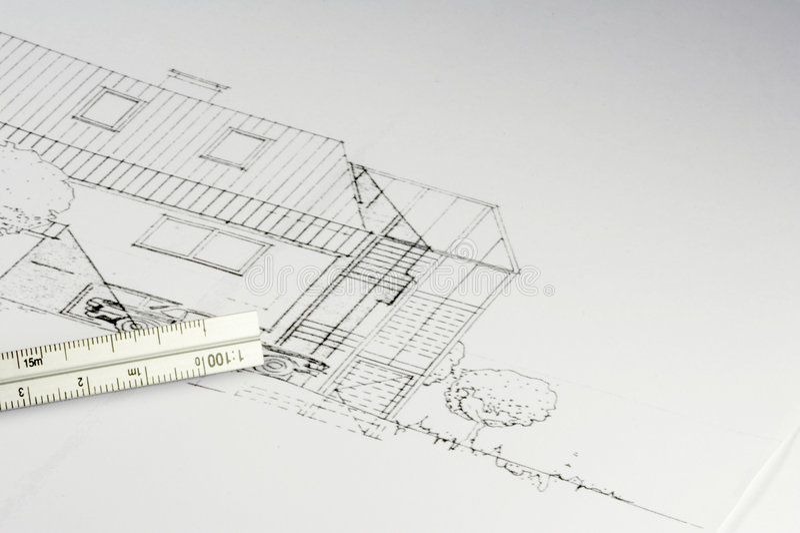 02 budynek projektów zdjęcia stock