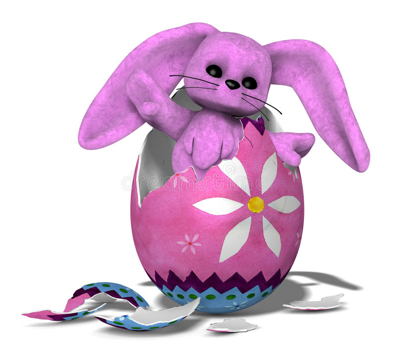 02 bunny εκκόλαψη διανυσματική απεικόνιση