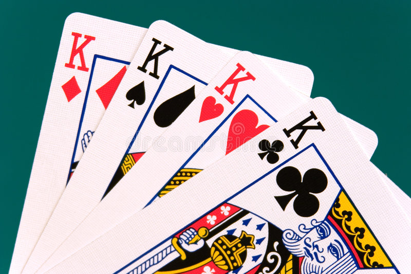 02 cards four kings στοκ φωτογραφίες