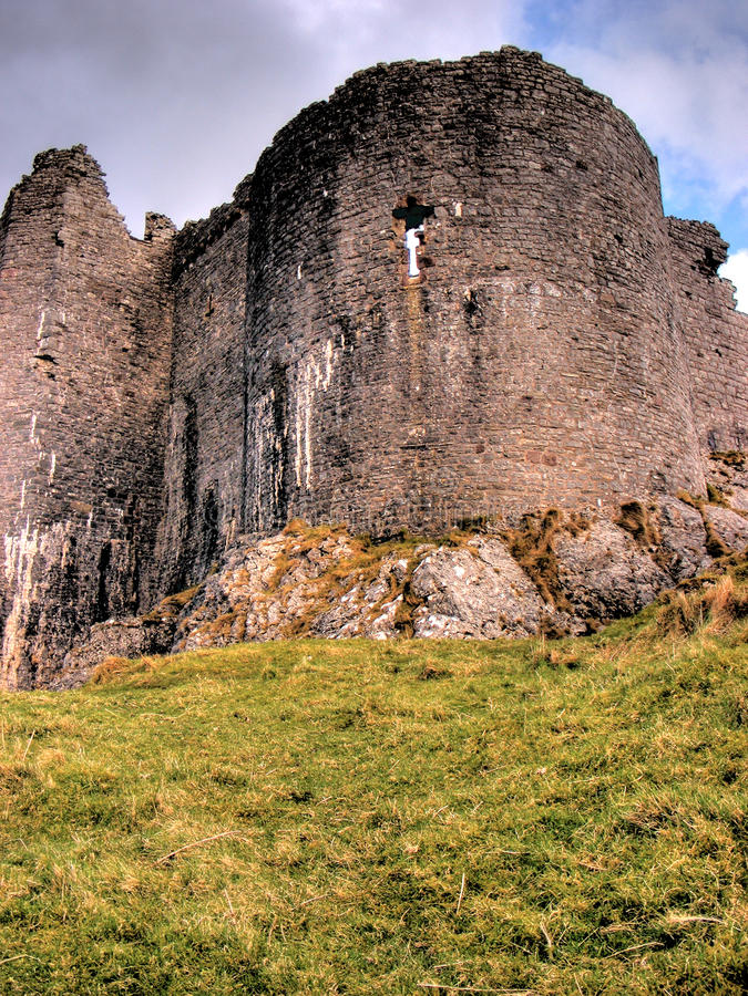 02 carreg城堡cennen 免版税库存图片
