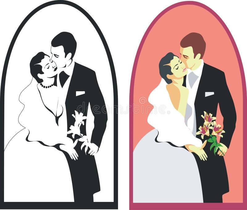 02 duetu ślub ilustracji