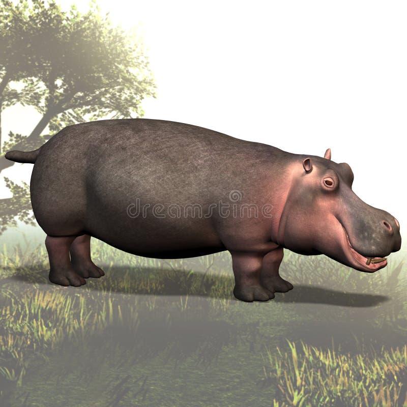 02 hipopotam ilustracji