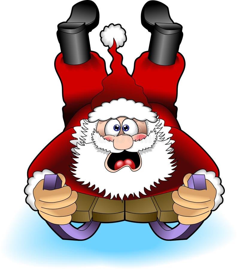 02 jpg Santa sledding ilustracji