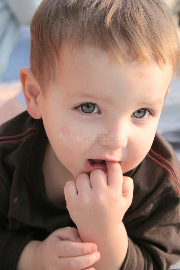 02 mały chłopiec portret obraz royalty free