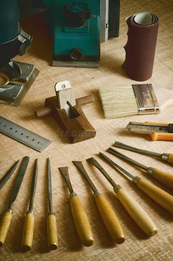 02 narzędzi drewna działanie zdjęcia stock
