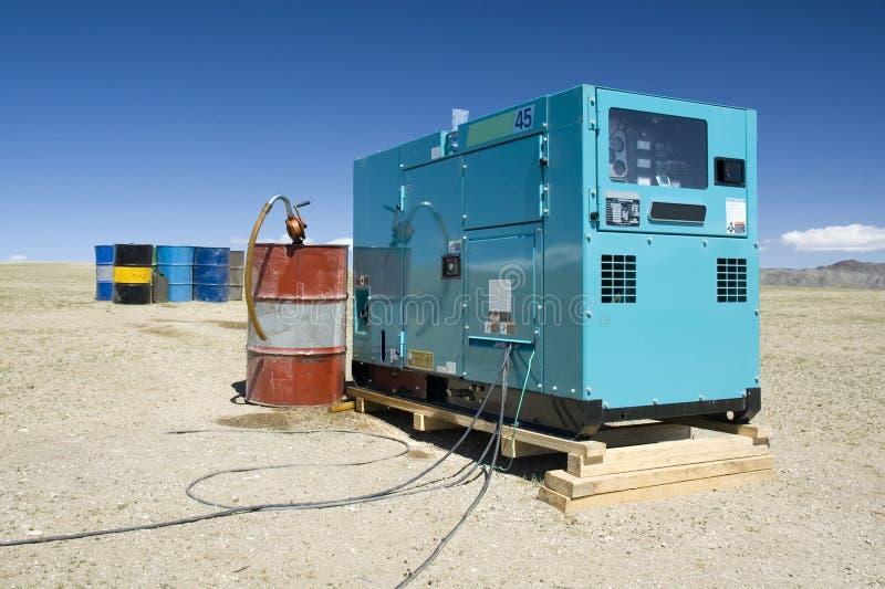 02 oleju napędowego generator fotografia stock