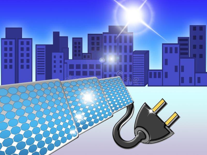 02 panneaux solaires illustration stock