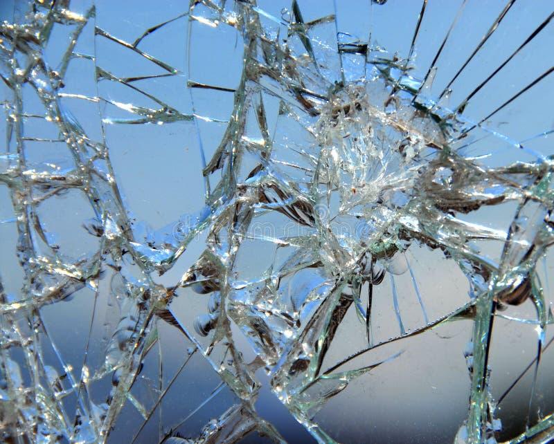 02 rozbitego szkła zdjęcia stock
