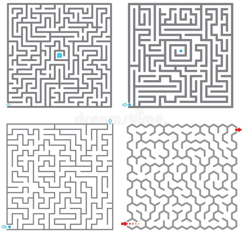 0245 kleine labyrinten stock illustratie