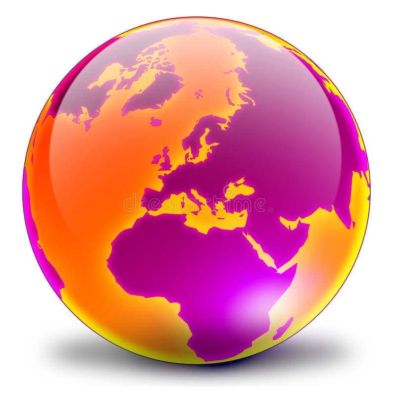 03个地球紫红色 库存图片