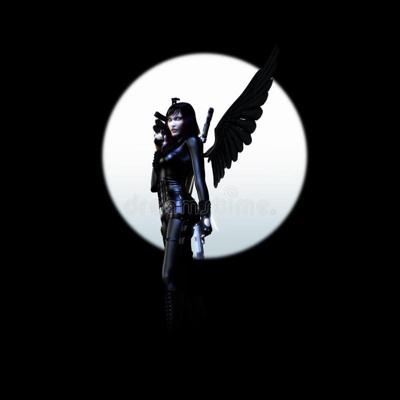 03个天使黑暗 向量例证