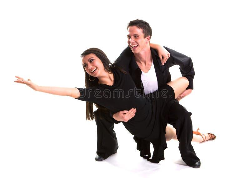 03个舞厅黑人舞蹈演员 库存照片