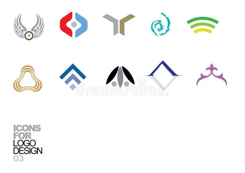 03个设计要素徽标向量 皇族释放例证