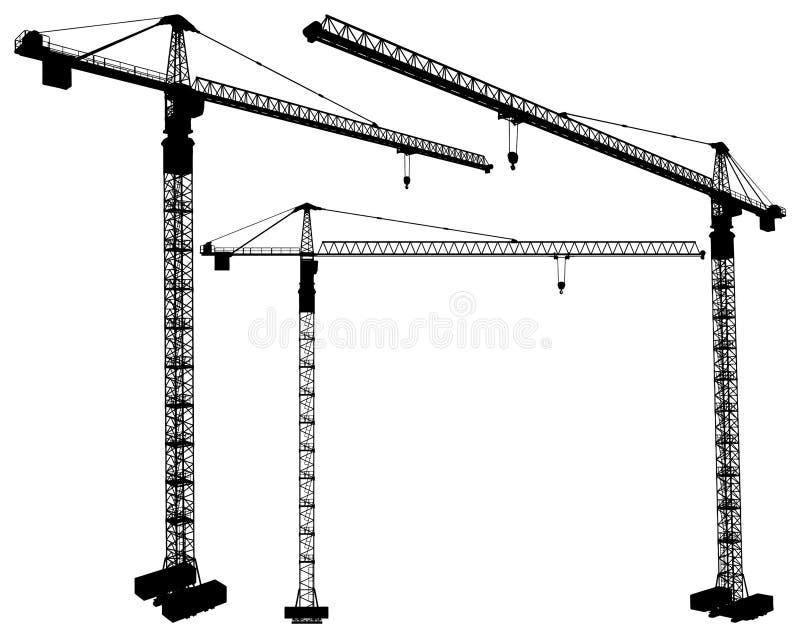 03举起向量的建筑用起重机 向量例证