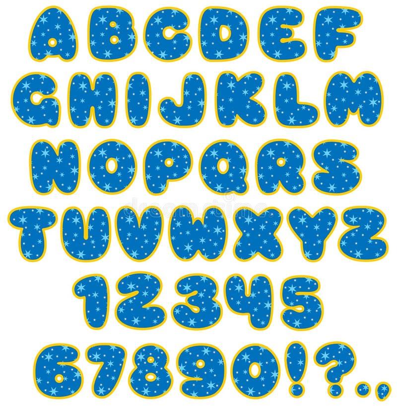 03儿童字体滑稽的s 向量例证