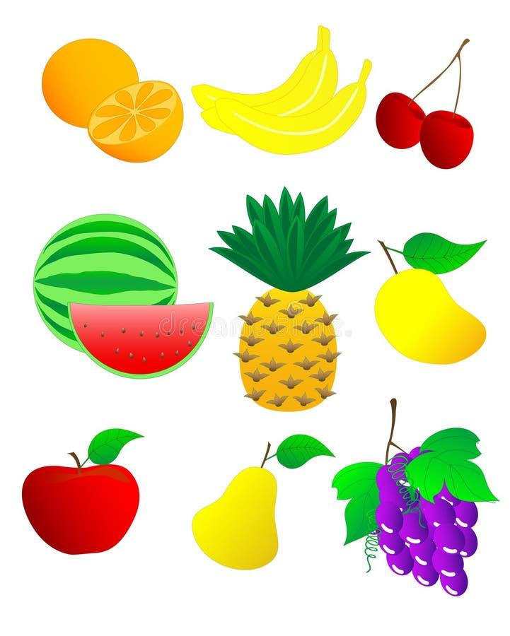 03果子 向量例证