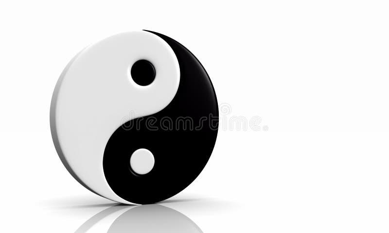 03 3d symbolu und Yang yin ilustracja wektor